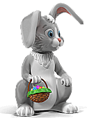 Easter Bunny and Bsket